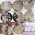 1 UNID Qgirl Serie Flor Nail Art Stamping Imagen Stamper Scraper Plantillas Plantilla Manicura Esmalte de Uñas Konad Sello de Acero