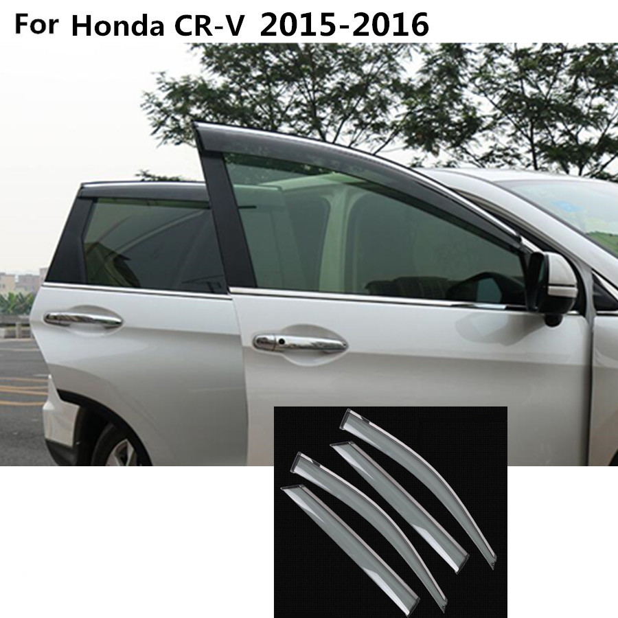 For honda crv cr v 2015 2016 car stick lamp plastic window glass wind visor