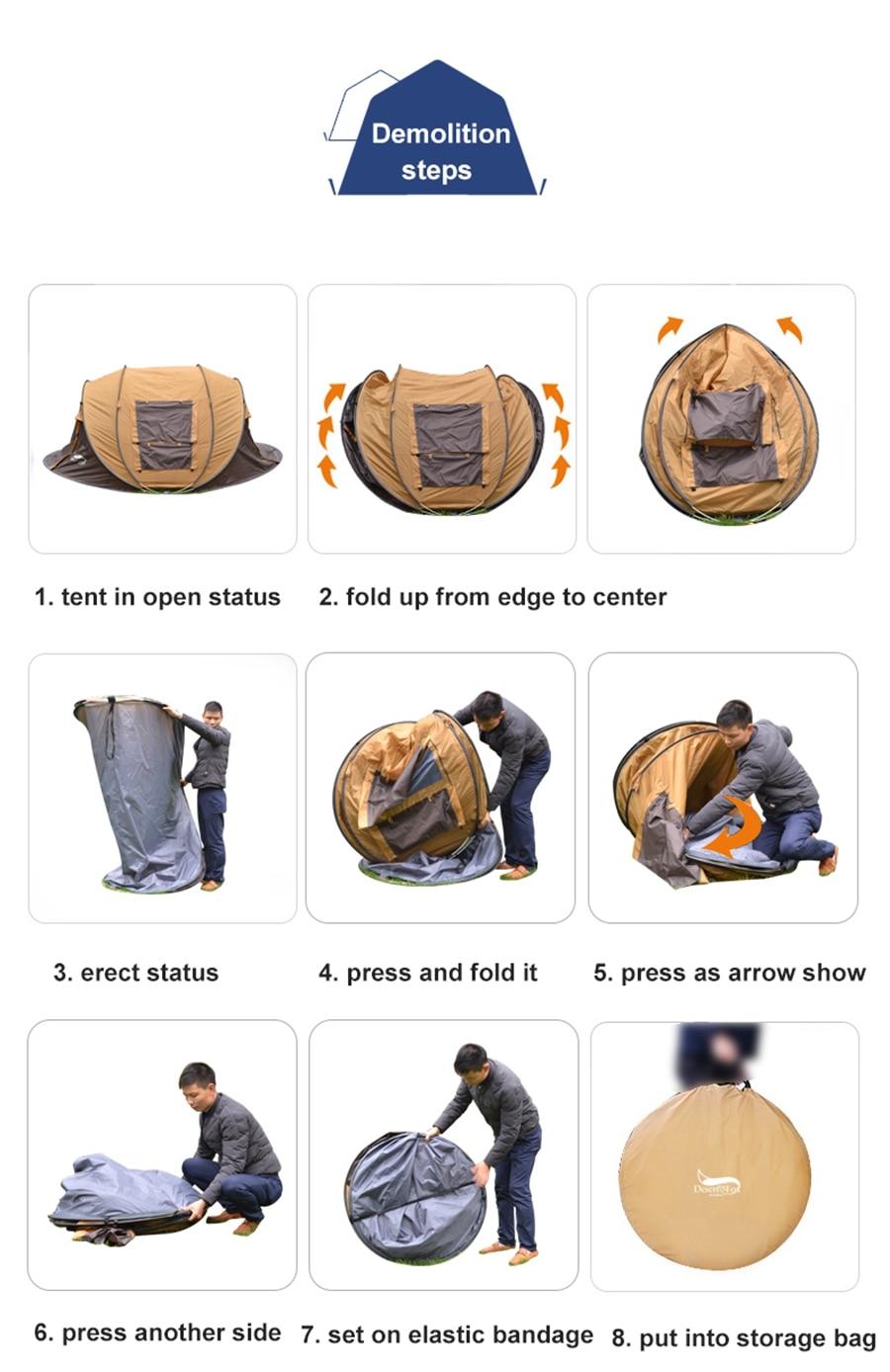 3 4 pessoa ao ar livre instalação instantânea tenda 4 temporada à prova dwaterproof água tenda para caminhadas