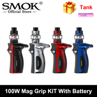 Original SMOK Mag Grip 100W Kit 5ml TFV8 V8 Baby V2 Tank S1 K1 Coil 18650 Battery Electronic Cigarette Vape VS X PRIV G PRIV 2