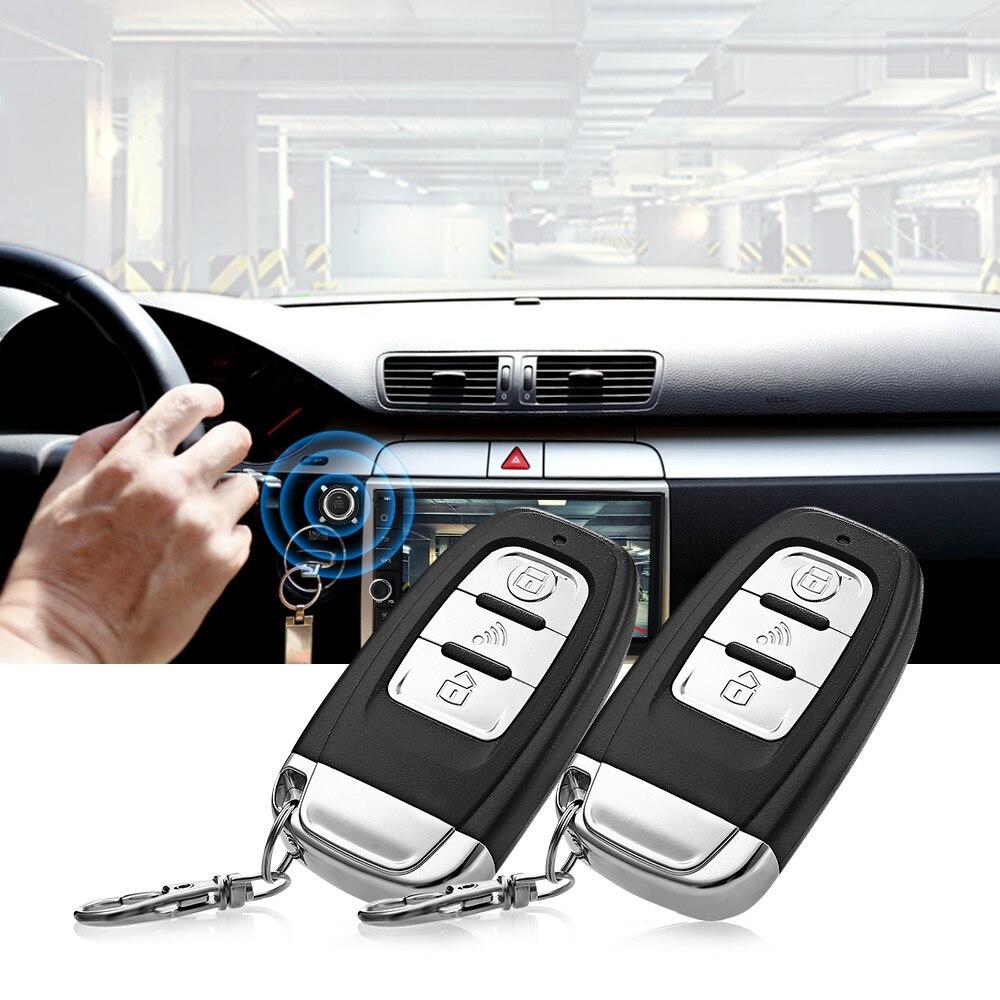 433 MHz D7 Universel 12 V alarme de voiture Systèmes de Sécurité Anti-dispositif antivol Une Clé Démarrage télécommande D'alarme pour la voiture