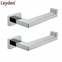 Leyden 2pcs Bathroom Accessories Set Chrome 304 Stainless Steel Lavatory 2 Toilet Paper Holders Set Roll Paper Holder