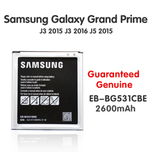 Original Samsung Replacement Battery EB-BG531BBE EB-BG530CBE For Galaxy Grand Prime j5 2015 J3 2016 G530 G531F G530H G530F Akku yilizomana phone battery eb bg530cbe for samsung galaxy grand prime j3 2016 g530 g531f g530h g530f 2600mah replacement batteries