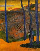 High quality Oil painting Canvas Reproductions Blue trees (1888) by Paul Gauguin hand painted