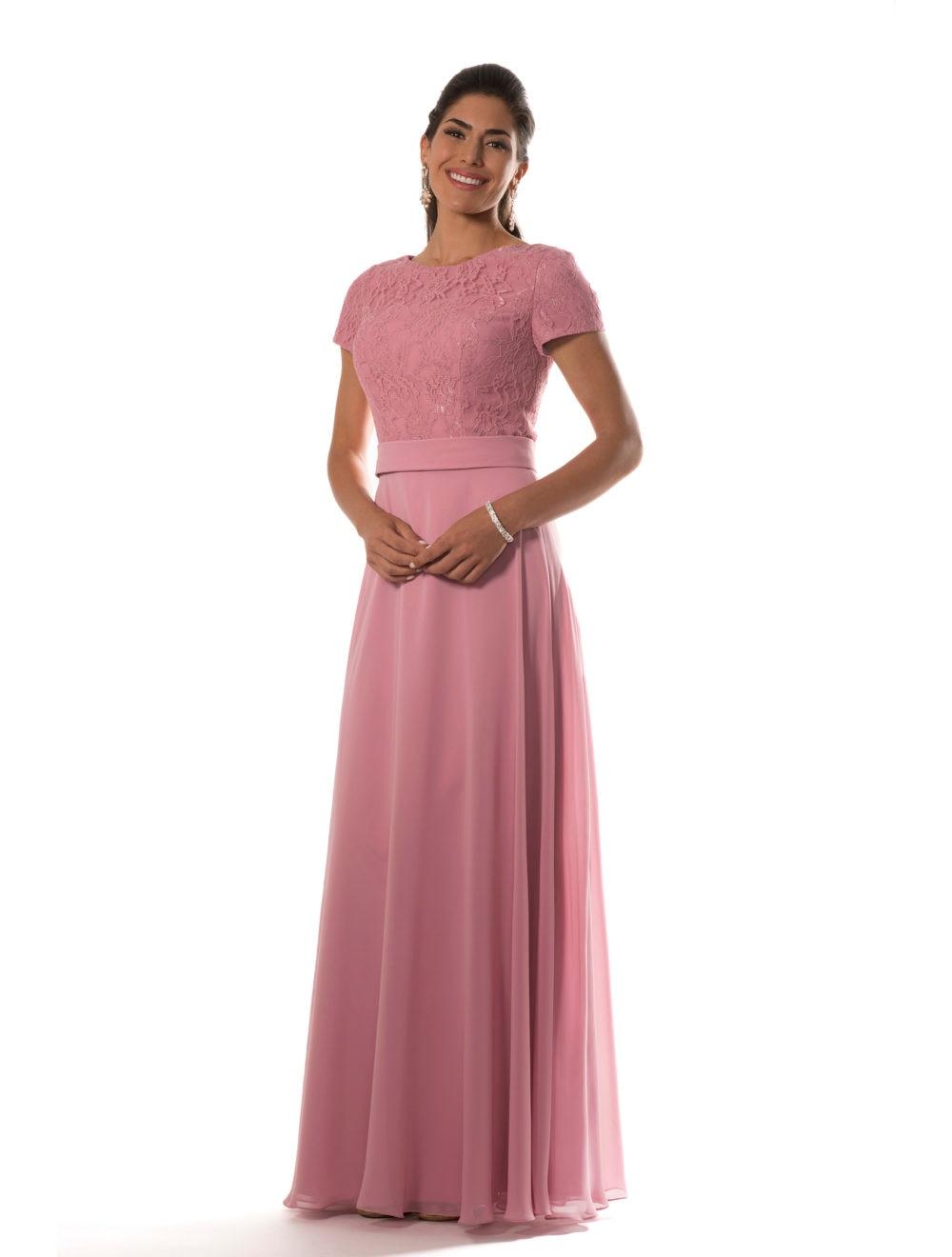 Asombroso Vestidos Modestos Damas De Honor Regalo - Colección de ...