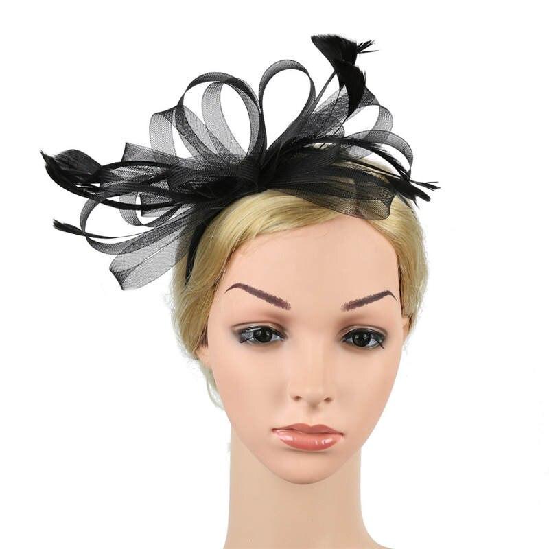 Fascinators Hat for Women Tea Party Headband Fancy Dress Accessories Wedding Hair Accessories For Women Hairband J12# (10)