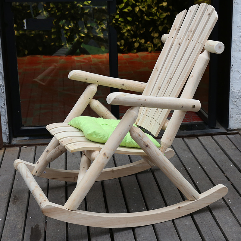 buy modern solid wood rocking chair outdoor furniture garden chair wooden patio garden vintage rocking armchair