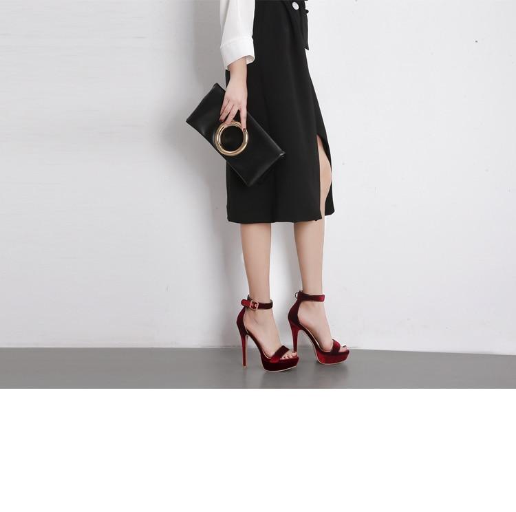 Color Ouvert À As Sexy D'été Chaussures Showed Sandales Boucle Femmes Plate forme Bout Style Hauts as Rouge Noir 13 Talons Color Cm Discothèque 47vnBq