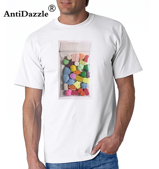 80 s Rave Music T Shirt Ecstasy Pills XTC Cocaines Drugs mens t-shirts  camisetas masculino 90 s personality Tee shirt homme Tops 8e5aa420af8