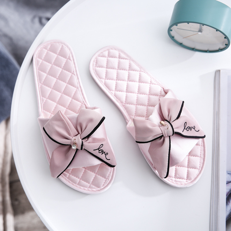Women Slides 2019 Summer Style Fashion Slippers Sandals Flip Flops Female Casual Beach Slides Bow Sandals Comfortable Flat Shoes
