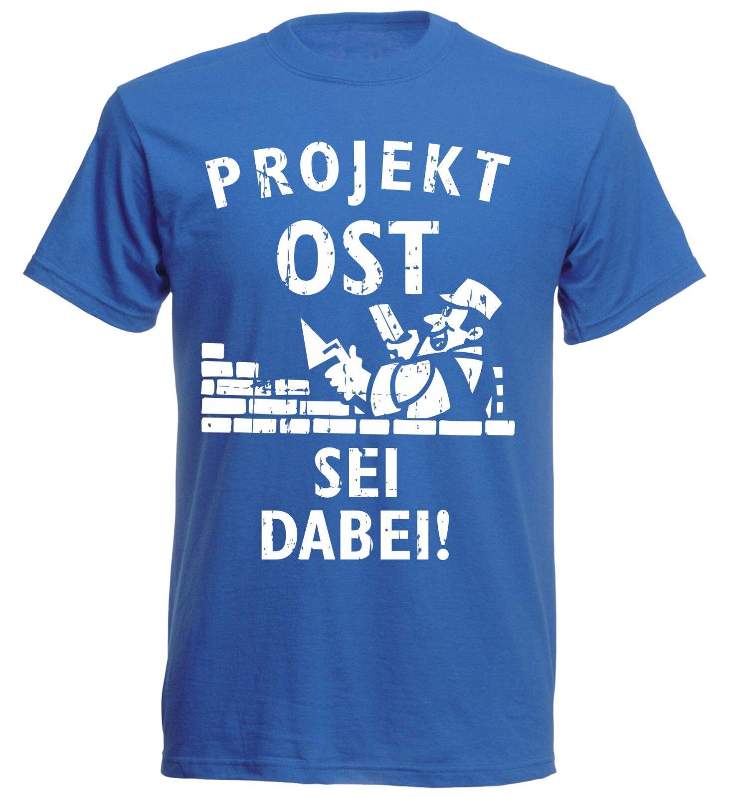 Mode Männer T Shirts Rundhals T-Shirt Deutschland Projekt OST-Sei Dabei Gedruckt T-Shirt Männer