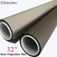 Obeytec 32 Advertising hologram holographic rear adhesive film projection 3D projector screen film foil for window shop church