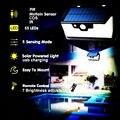 55 LED 900lm Solar Licht fernbedienung radar smart 3 seite beleuchtung Sicherheit Motio IP camp straße wand lampe hof c-in Solarlampen aus Licht & Beleuchtung bei