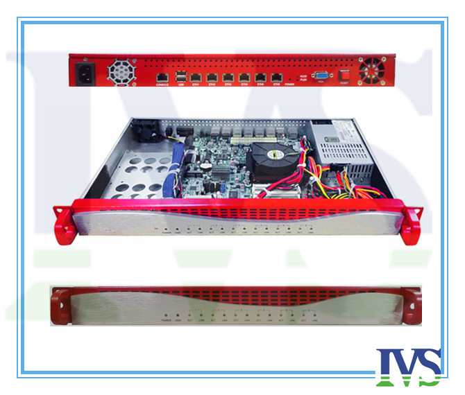 Upscale Al Front-panel 1U 6 GbE Lans Router / Firewall Server VOIP System With 2ets Bypass Function