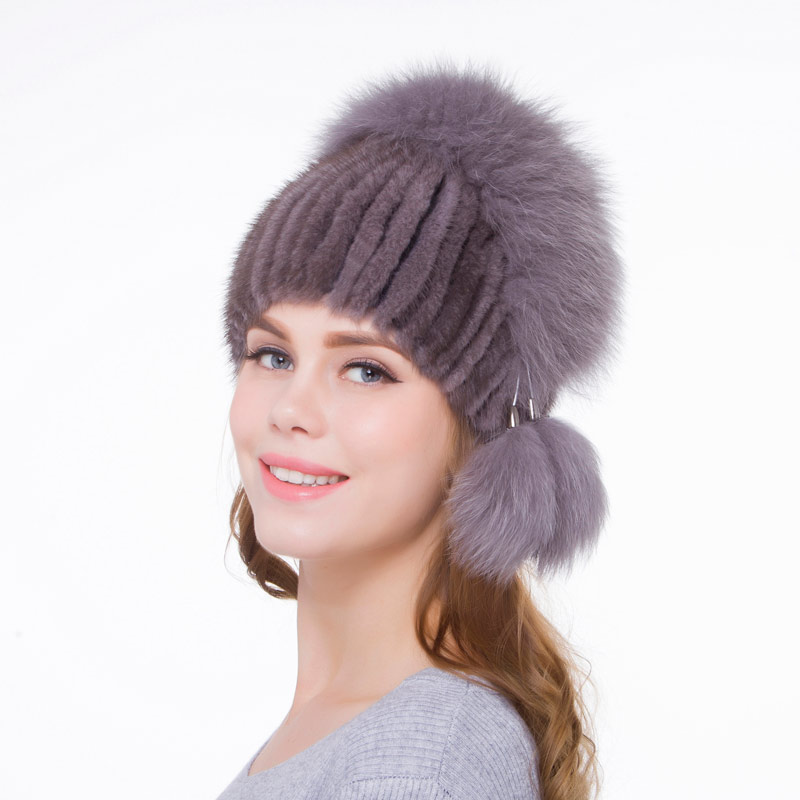 41bf83022d7 Detail Feedback Questions about Mink fur hat hand made women autumn and winter  hats natural leather ladies hat personality design 2018 fashion new  discount ...