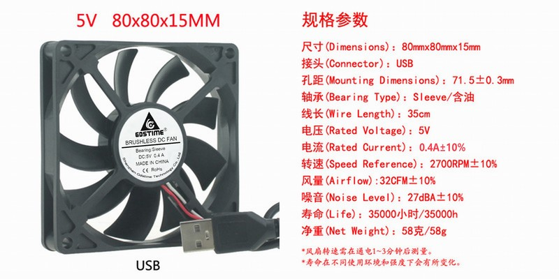 DC 5V 12V 24V 8CM 80MM <font><b>80X80X15</b></font> 8 cm power supply chassis brushless cooling <font><b>fan</b></font> image