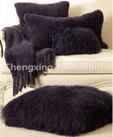 Free Shipping CX D 62 50x50cm Custom Made Mongolia Lamb Fur Cushion Cover / Pillow