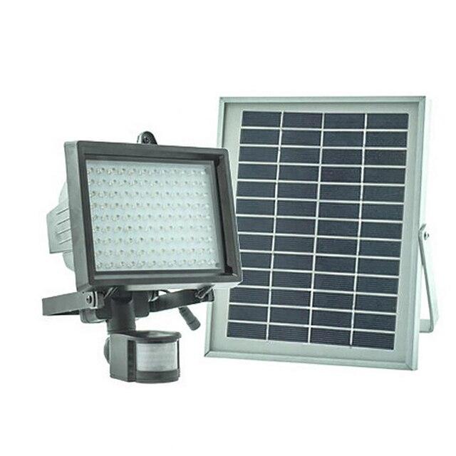 Solar Motion Sensor Light Li Ion Battery 5w Panel Led Stree Lights Lamps Outdoor