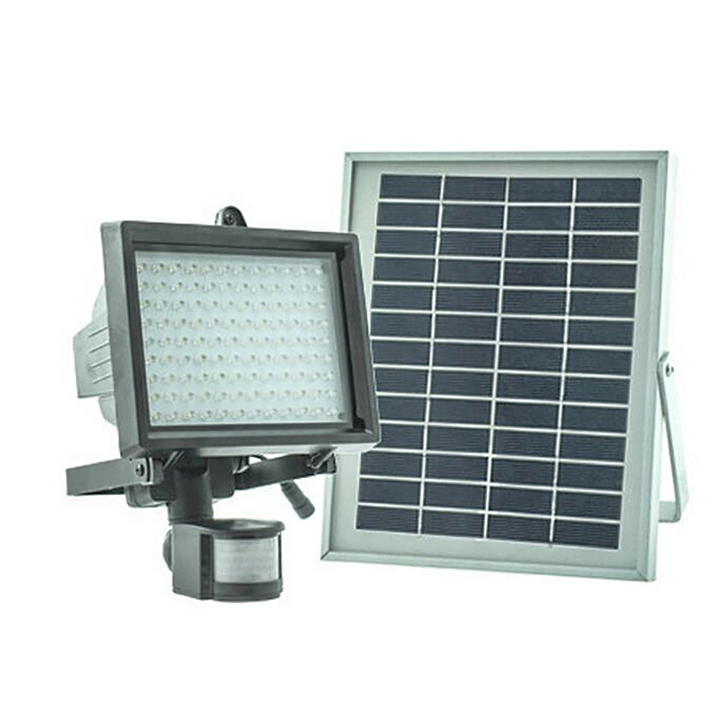 Solar Motion Sensor Light Li-ion Battery 5W Solar Panel LED Stree Lights Lamps Outdoor Lighting Fixtures for Garden Decoration