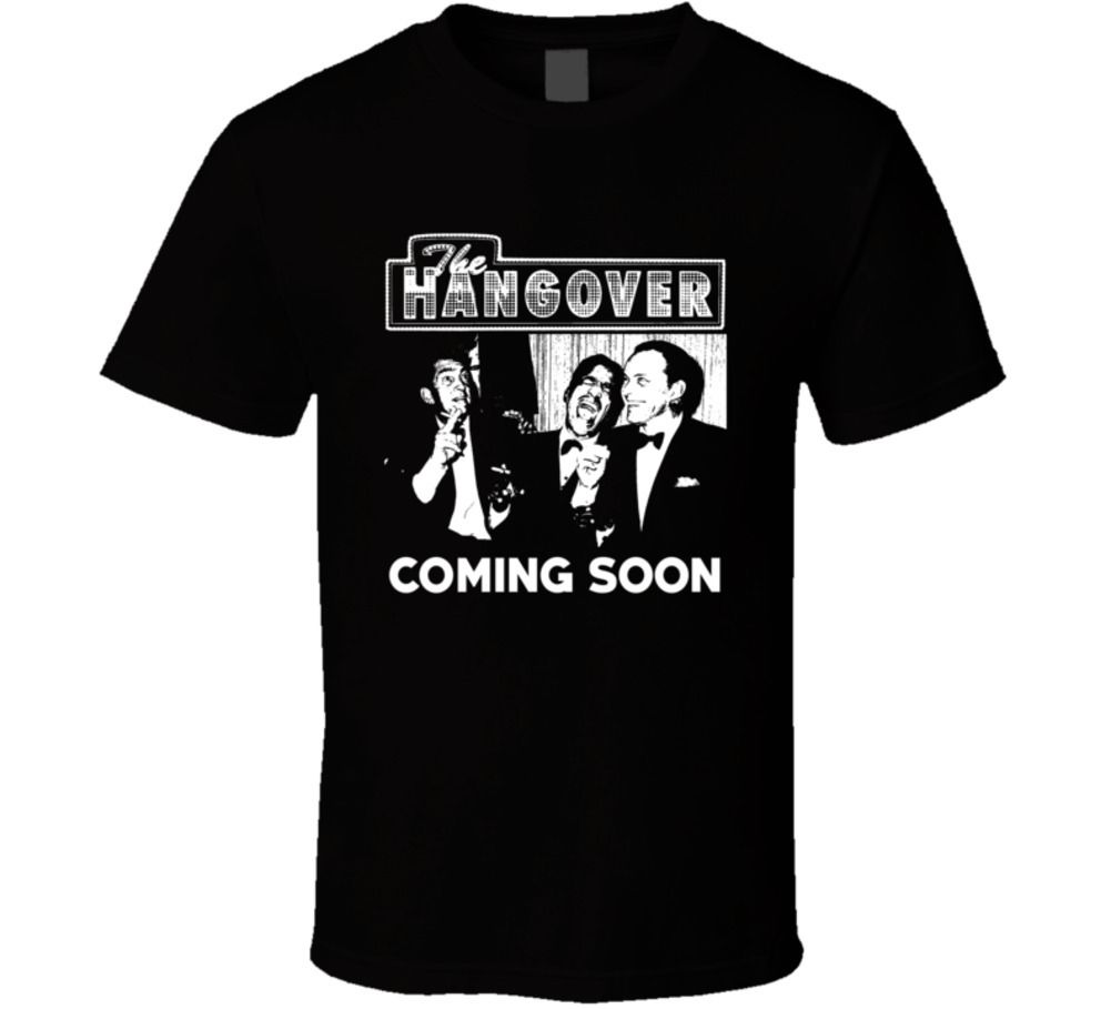 The Hangover Rat Pack Parody Movie Funny Fan T Shirt Simple Short-Sleeved Cotton T-Shirt Top Tee Summer Men Clothing image