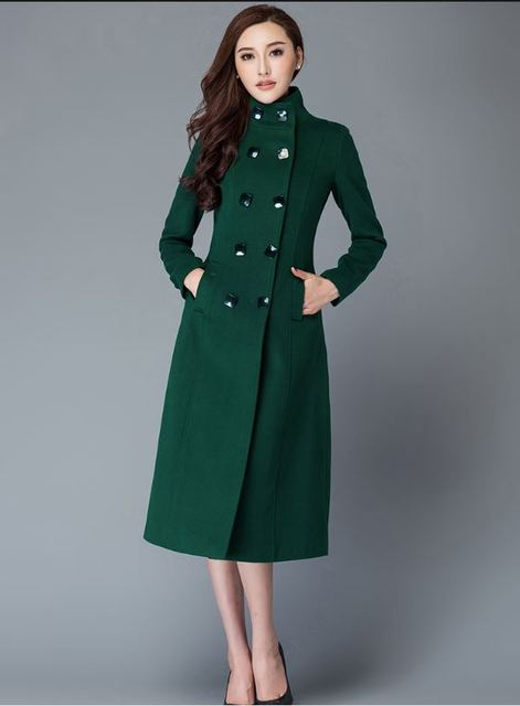 5f3a49ddaa0d0 Brand Design Winter Coat Women Warm Wool Coat Long Women s Cashmere Coat  European Fashion Jacket Outwear