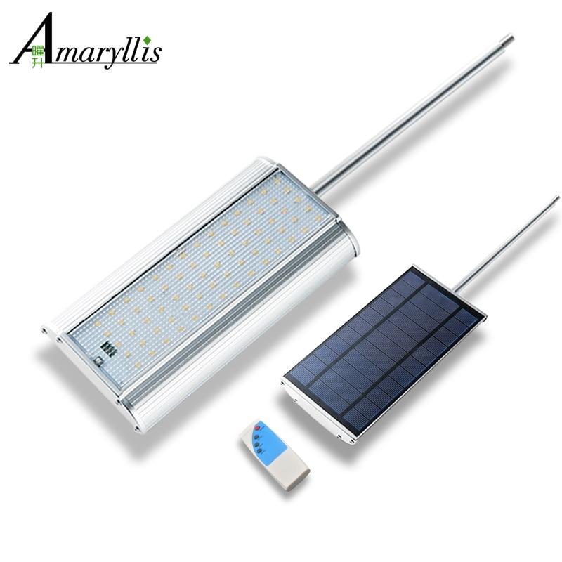 70 LED Radar Motion Sensor Zonne verlichting Met Afstandsbediening ...