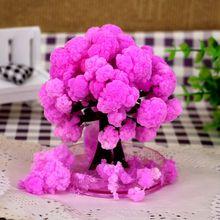2017 Artificiale japoneze Magic Sakura Copaci de hârtie Magic Crăciun în creștere Copac Desktop Cherry blossom jucării pentru copii 50PCS