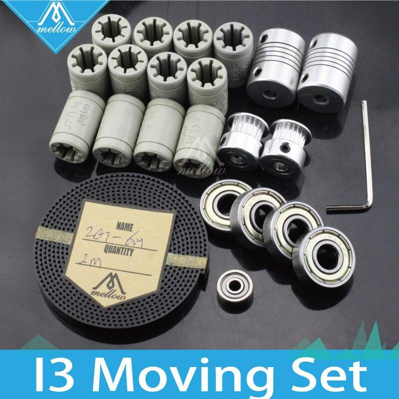 Livraison gratuite! 3d imprimante reprap i3 mouvement kit GT2 ceinture poulie 608zz portant, en plastique lm8uu RJ4JP-01-08, portant 624zz