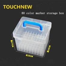 Marker Special Transparent Box Compartment 60/80-Slots Portable Waterproof Moistureproof  Case Organizer