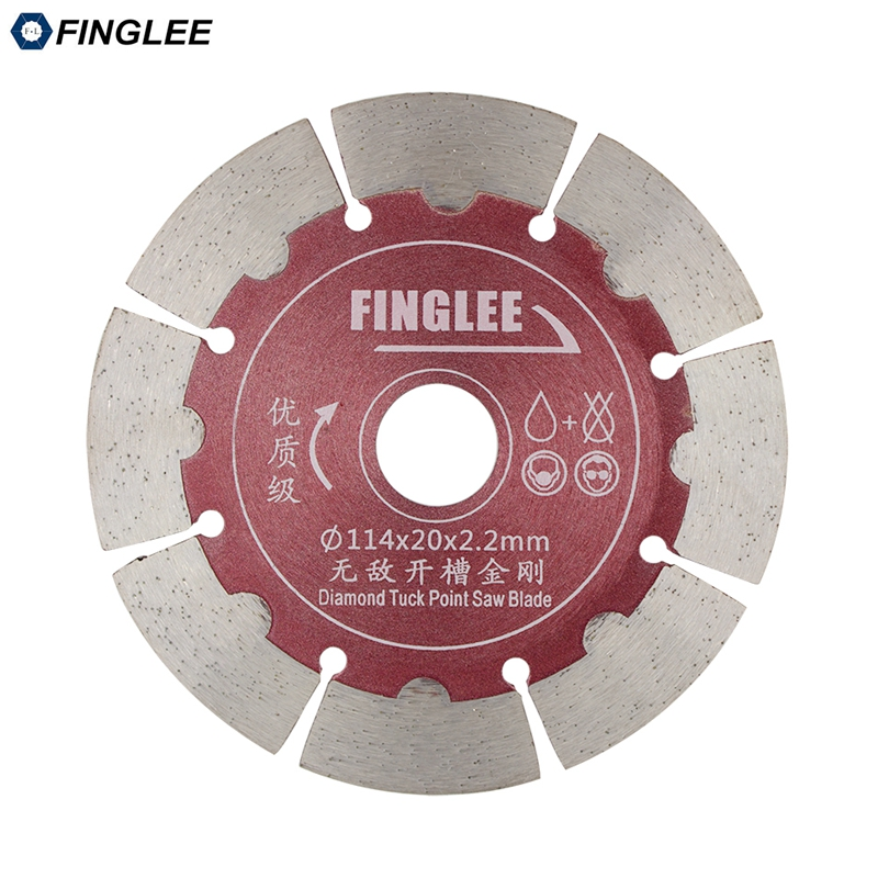 FINGLEE 1Pc 4.5/5/6 inch Dry Cutting Disc, Diamond Saw Blade for Concrete,Stone,Cement wall,Slotted Saw Blade berrylion diamond saw blade circular saw 114mm cutting disc wet diamond disc for marble concrete stone cutting tools