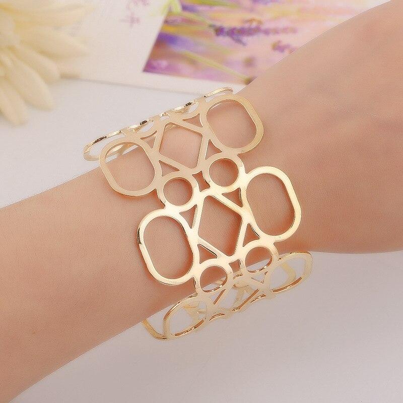 wide cuff bracelet femme bangle bracelets womens gold silver plated carter love bracelet jonc indian jewelry