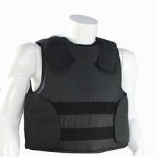 Скрытно Пуленепробиваемый жилет из кевлара с сумкой полиции Для тела Панцири NIJ IIIA уровень защиты Размеры M, L, XL черный Цвет