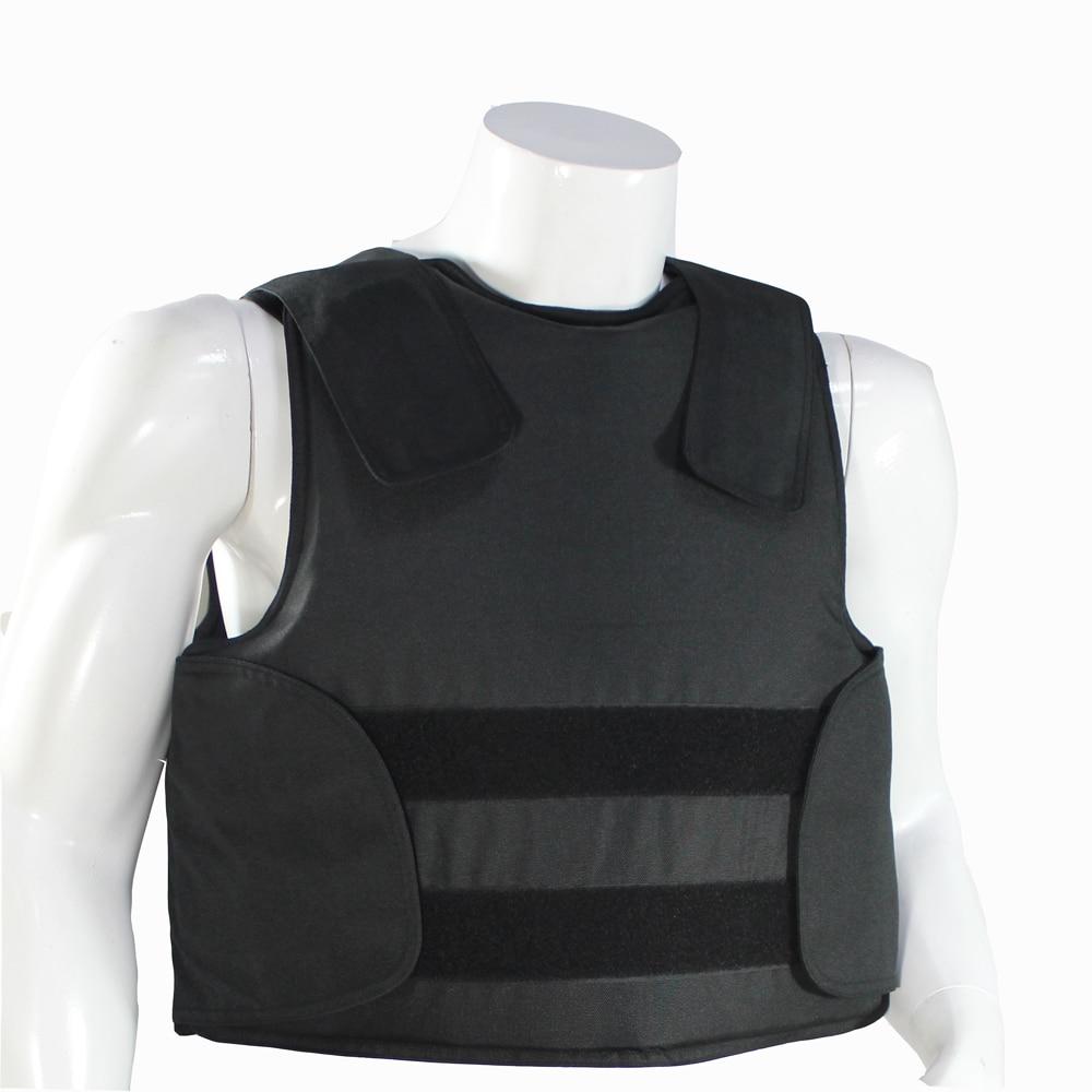 Occultabile Kevlar Giubbotto antiproiettile con Livello di Protezione Borsa Per Il Trasporto Della Polizia Body Armor NIJ IIIA Taglia Ml XL Colore Nero