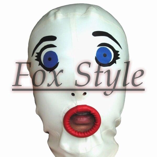 Бесплатная доставка латекс ручной фетиш кукла маски резиновые капот