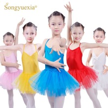 Songyuexia Girls Ballet Dance Dress para niños Ballerina Leotardo Gymnastics Leotardo Children's Ballet Tutu Dress Dnce Costume