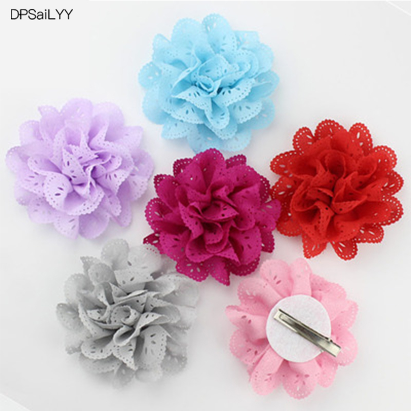 DPSaiLYY 2 PC Free Shipping Flower Hair Clip Hairpins for Girls Gift Kids Hair Barrettes Hair Accessories for Children Headwear women headwear gift rhinestone hair claw butterfly flower hair clip 5 5cm long middle size bow hair accessories for girls