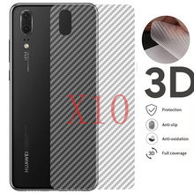 10pcs/lot 3D Carbon Fiber Rear Screen Protector for Huawei Mate 20 P20 P10 Pro