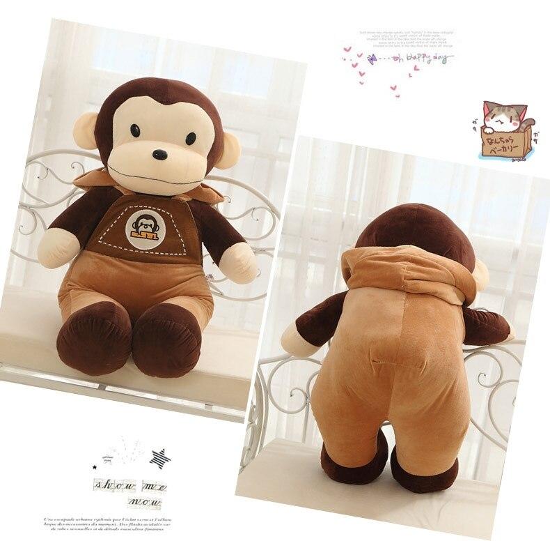 Environ 72 cm joli singe en peluche porte-jarretelles pantalon singe poupée jeter oreiller cadeau w6402