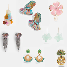 Ztech 2019 New Trendy Glass Crystal Za Earrings For Wedding Women Girls Multicolored Bird Fish Drop Dangle Earring Wholesale