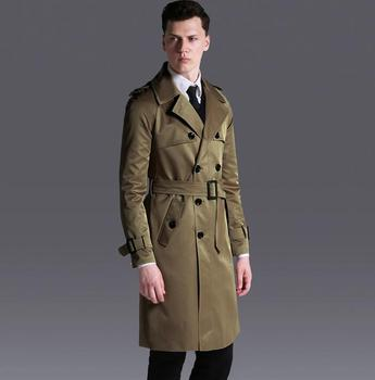 Double breasted trench coat mens medium-long coat 2020 spring autumn loose raglan sleeve fashion plus size mens overcoat 6XL
