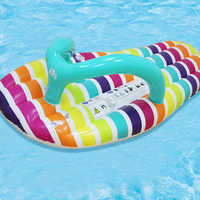 PVC Loungers Inflatable Hammock Bed Children Pool Beach Toy Water Slippers Swimming Sofa Circle Floating Row