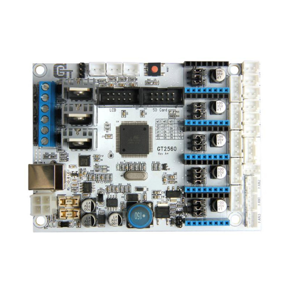 3D Printer Kit GT2560 Controller Board + LCD 2004 Display + 5 Pcs A4988 Stepper Motor Driver IJS9983D Printer Kit GT2560 Controller Board + LCD 2004 Display + 5 Pcs A4988 Stepper Motor Driver IJS998