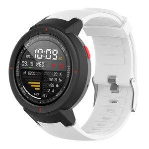 Image 2 - סיליקון רצועת השעון רצועת עבור Huami 3 Smartwatch amazfit סף (A1801) החלפת 10 צבעים להקת יד צמיד רצועות