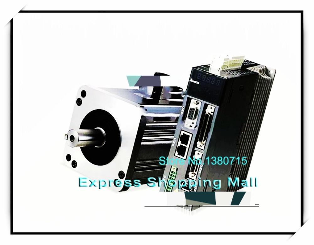 ECMA-C31010FS+ASD-A1021-AB 220V 1KW 3.18NM 3000RPM 100mm AC Servo Motor & Drive kits brake 2500ppr ECMA-C31010FS + ASD-A1021-AB asd 19