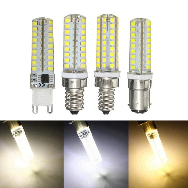 2835 SMD 72 LED Lamp Bulb E14/E12/G9/B15 9W Dimmable LED Corn Light Bulb 220V Replace Halogen Warm Natural Pure White куртка мужская icepeak цвет синий серый 756111516iv 345 размер s 48