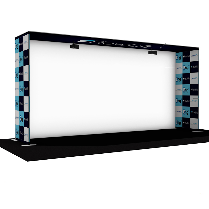 Exhibition Booth Accessories : Ft portable projection screen tension fabric booth