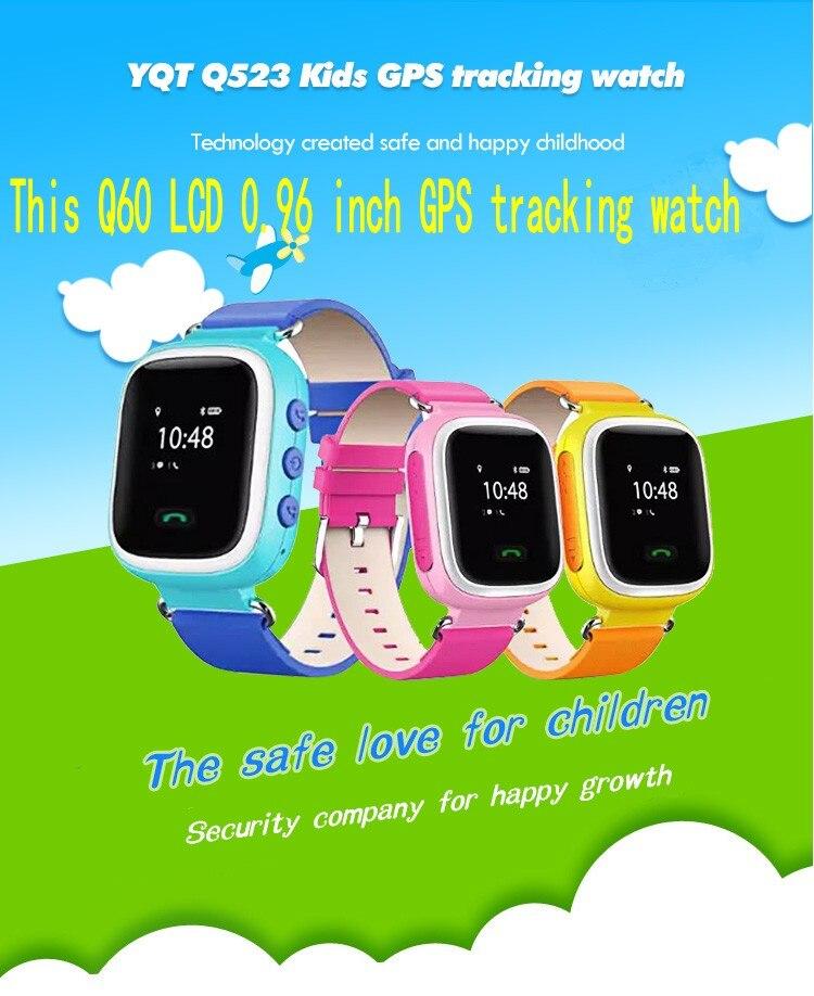1pcs 2016 GPS Tracker Watch for Kids Safe GPS Watch Q60 0 96 inch LCD smart