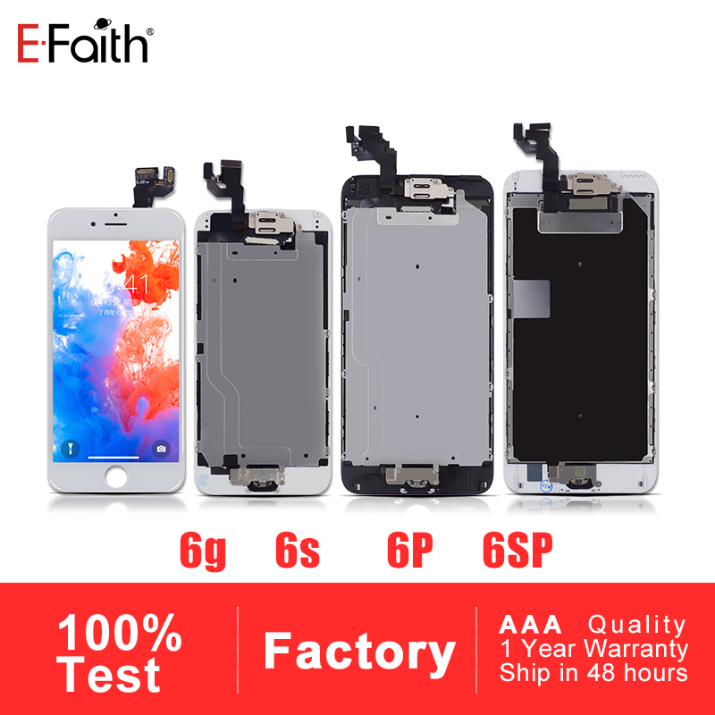 EFaith 5 PCS AAA Display For iPhone 6 6 plus 6s 6s plus Completed Assembly LCD