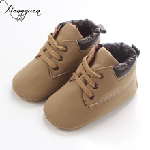 New Spring Antumn 6 Colors High Quality  Lace-Up Solid PU Soft Sole Casual Design Baby Shoes Baby Boy Girl Shoes For 0-15 Months