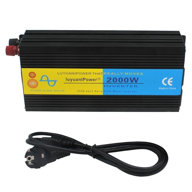 LCD Display 2000W 4000W Peak uninterruptible power supply Pure Sine Wave Power Inverter DC 12V to
